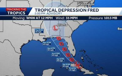 Week #13 Hurricane Season Series: The Peak of Hurricane Season, Tropical Depression Fred, and a new system heading our way!