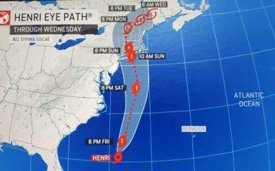 Week #14 Hurricane Season Series: Tropical Storm Henri is expected to hit New England this weekend.