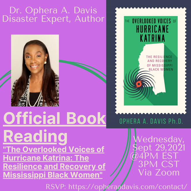 Virtual Book Launch and Reading September 29th @ 4:00PMEST/3:00PMCST