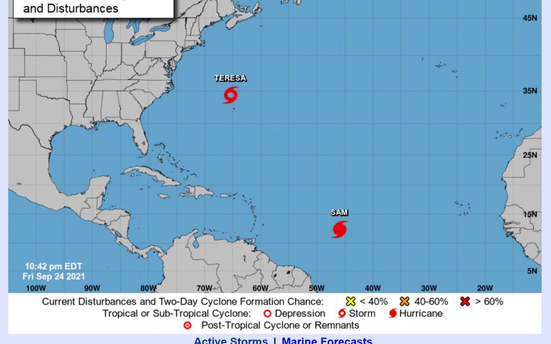 Week #19 Hurricane Season Series: Two Tropical Storms churning in the Atlantic Ocean